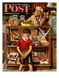 """Penny Candy,"" Saturday Evening Post Cover, September 23, 1944 Reproduction procédé giclée par Stevan Dohanos"