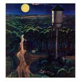 """Lovers' Lane, Falls City, Nebraska,"" May 24, 1947 Giclée-Druck von John Falter"