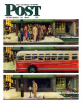 """Missed the Bus,"" Saturday Evening Post Cover, September 10, 1949 Giclee Print by Thornton Utz"