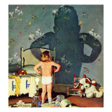 """Big Shadow, Little Boy,"" October 22, 1960 Giclee Print by Richard Sargent"