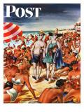 """Palefaces at the Beach,"" Saturday Evening Post Cover, July 27, 1946 Giclée-Druck von Constantin Alajalov"
