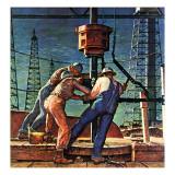 """Drilling for Oil,"" November 9, 1946 ジクレープリント : ミード・シーファー"