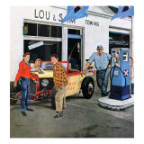 """Gas Money,"" March 26, 1960 Giclee Print by George Hughes"