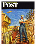 """Corn Harvest,"" Saturday Evening Post Cover, October 9, 1948 ジクレープリント : ミード・シーファー"