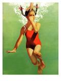 Dukket under vandet, 9. august 1941 Giclée-tryk af John Hyde Phillips