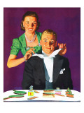 """Tying a Tux Tie,"" April 26, 1941 Giclée-tryk af John Hyde Phillips"