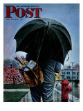 """Mailman,"" Saturday Evening Post Cover, May 13, 1944 Reproduction procédé giclée par Stevan Dohanos"