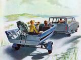 """Highway Boatride,"" July 14, 1962 Giclee-trykk av George Hughes"
