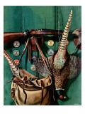 """Hunting still life,"" November 11, 1944 Giclée-Druck von John Atherton"