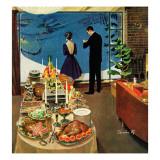 """""""Snow Buffet Party,"""" February 20, 1960 Gicléetryck av Thornton Utz"""