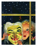"""""""Witch's Mask,"""" October 31, 1942 Giclee Print by Charles Kaiser"""