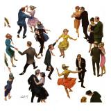 """Different Dancing Styles,"" November 4, 1961 Gicléetryck av Thornton Utz"