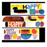 """""""Happy Collage,"""" December 28, 1968 Giclée-Druck"""