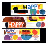 """Happy Collage,"" December 28, 1968 Lámina giclée"