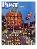 """Independence Parade,"" Saturday Evening Post Cover, July 7, 1945 Giclée-Druck von John Falter"