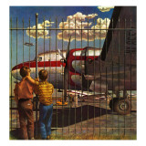 """""""Boys at Airport,"""" March 30, 1946 Giclee Print by John Atherton"""