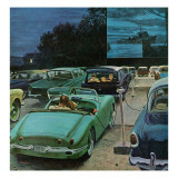 """Drive-In Movies,"" August 19, 1961 Giclee Print by George Hughes"