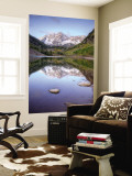 Maroon Bells From Maroon Lake, Maroon Bells-Snowmass Wilderness, Colorado, USA Wall Mural by Jamie & Judy Wild