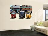 Taxis Parked Outside Local Shops Seinämaalaus tekijänä John Sones