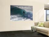 Surfing on Honolua Bay, Kapalua, Hawaii, USA Fototapete von Douglas Peebles