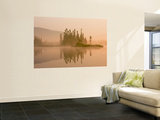 Misty Dawn on East Inlet, Pittsburg, New Hampshire, USA Wall Mural by Jerry & Marcy Monkman