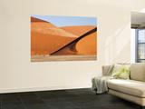 Abstract of Sand Dunes, Sossusvlei, Namibia, Africa Vægplakat af Wendy Kaveney