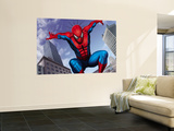 Spider-Man Jumping In the City Wall Mural