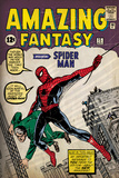 Marvel Comics Retro: Amazing Fantasy Comic Book Cover No.15, Introducing Spider Man (aged) Mural