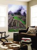 Fog Above Terraced Inca Ruins Wall Mural by Jeffrey Becom