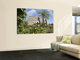 Traditional A-Frame Palheiro Houses Wall Mural by Holger Leue