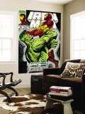 Iron Man No.305 Cover: Iron Man and Hulk Fighting Wall Mural by Kev Hopgood