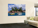 Excursion Boats Off St Pierre Islet Wall Mural by Jean-Bernard Carillet