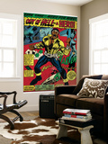 Marvel Comics Retro: Luke Cage, Hero for Hire Comic Panel, Screaming (aged) Mural