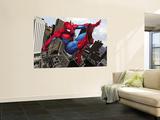 Spider-Man Swinging In the City Vægplakat