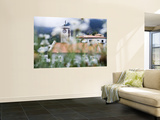 Flowers and Church Wall Mural by Holger Leue
