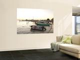 Boats at Sunset from Pier at Picus Cockteleria Veggmaleri av Dennis Johnson