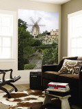 Windmill and Private Gardens Wall Mural by Holger Leue