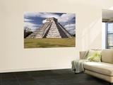 El Castillo, Pyramid of Kukulca Veggmaleri av Dennis Johnson