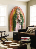 Lady of Guadalupe Statue Detail Veggmaleri av Ray Laskowitz