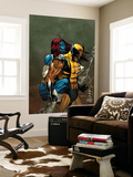 Wolverine No.62 Cover: Wolverine and Mystique Wall Mural by Ron Garney