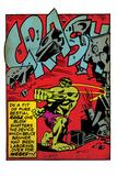 Marvel Comics Retro: The Incredible Hulk Comic Panel, Rage and Crash (aged) Wall Mural