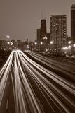 Chicago's Lake Shore Drive BW Fotografie-Druck von Steve Gadomski