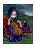 Cello Storm Kunst von Jasmine Becket-Griffith