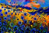 Blue Cornflowers 756 Prints by Pol Ledent