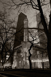 Chicago Water Tower BW Fotografie-Druck von Steve Gadomski
