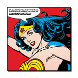 Close-up Wonder Woman, met Engelse tekst: Of All People Print