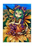 Sitting on a Sunflower Affiches par Jasmine Becket-Griffith