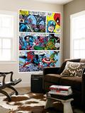 Captain America And The Falcon Group: Captain America, Falcon and Spider-Man Seinämaalaus tekijänä John Romita Sr.