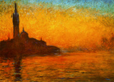 Monet - Venice by Twilight Pôsters