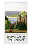 North Wales for Holidays Giclée-vedos
